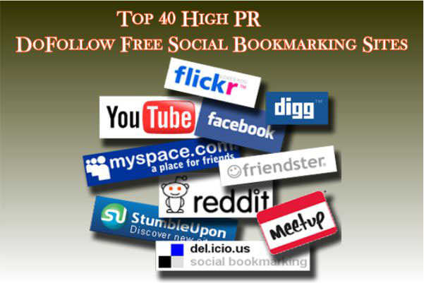 Top High PR DoFollow Free Social Bookmarking Sites List